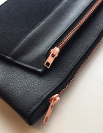 leather etui rose gold